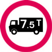 No Vehicles Over 7.5t